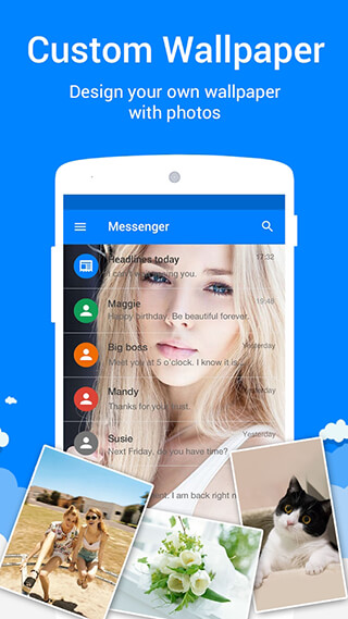 Messages: SMS, MMS, Call App скриншот 4