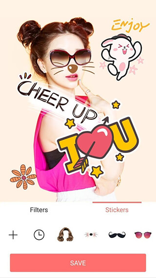 Selfie Camera: Filter and Sticker and Photo Editor скриншот 4