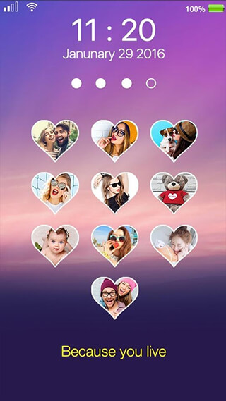 Love Photo Keypad Lockscreen скриншот 1