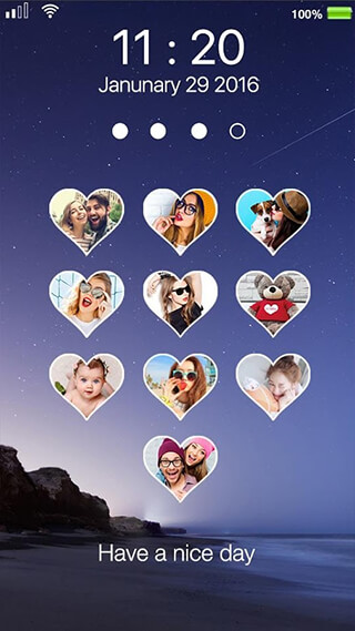 Love Photo Keypad Lockscreen скриншот 2