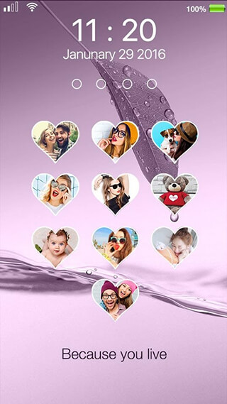 Love Photo Keypad Lockscreen скриншот 4