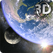 Earth and Moon in HD Gyro 3D Parallax Live Wallpaper иконка