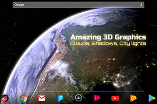 Earth and Moon in HD Gyro 3D Parallax Live Wallpaper скриншот 2