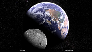 Earth and Moon in HD Gyro 3D Parallax Live Wallpaper скриншот 4