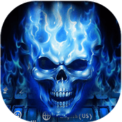 Flaming Skull Kika Keyboard Theme иконка