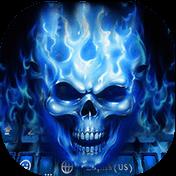 Flaming Skull Kika Keyboard Theme иконка