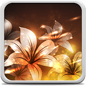 Glowing Flowers Live Wallpaper иконка