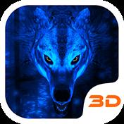 Ice Wolf 3D Theme иконка