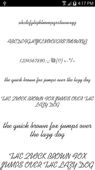 Fonts for FlipFont Romance скриншот 1