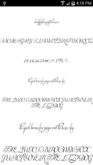Fonts for FlipFont Romance скриншот 3
