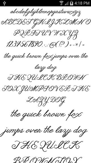 Fonts for FlipFont Romance скриншот 4