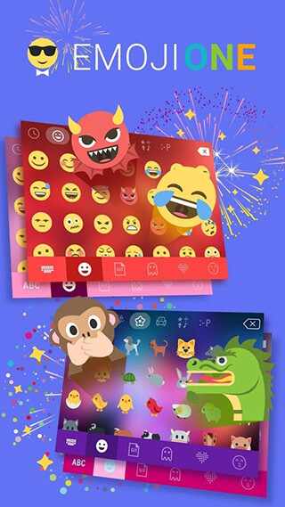 Emoji One Kika Keyboard Plugin скриншот 1