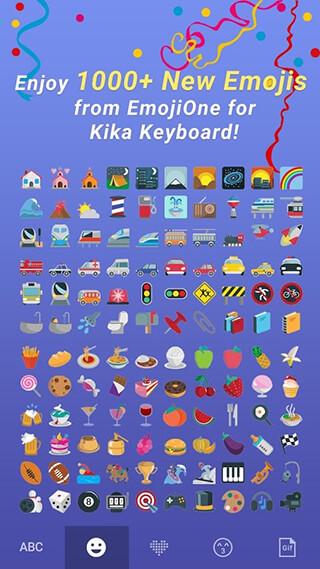 Emoji One Kika Keyboard Plugin скриншот 3
