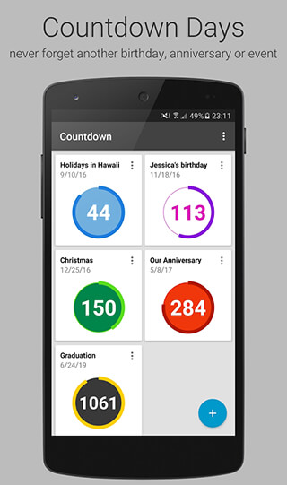 Countdown Days: App and Widget скриншот 1