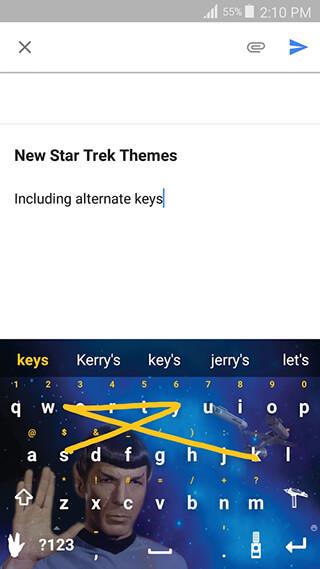 Swype Keyboard Trial скриншот 2