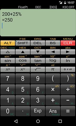 Panecal Scientific Calculator скриншот 4