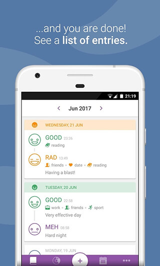 Daylio: Diary, Journal, Mood Tracker скриншот 3
