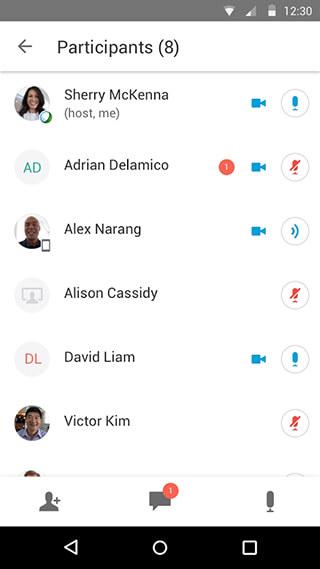 Cisco WebEx Meetings скриншот 3