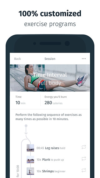 8fit: Workouts, Meal Planner and Personal Trainer скриншот 4