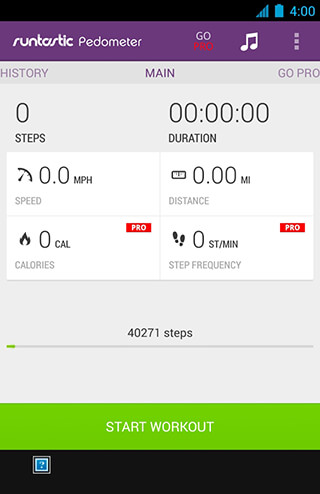 Runtastic Pedometer Step Counter скриншот 1