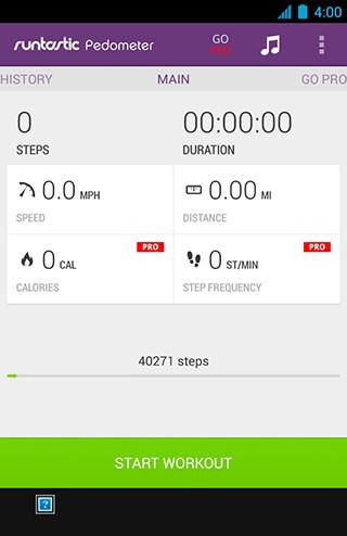 Runtastic Pedometer Step Counter скриншот 1