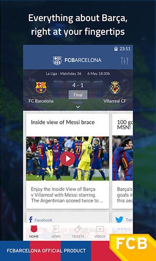 FC Barcelona Official App скриншот 1