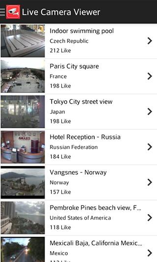 Live Camera Viewer: World Webcam and IP Cam Streams скриншот 2