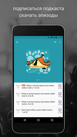 Podcast Player скриншот 3