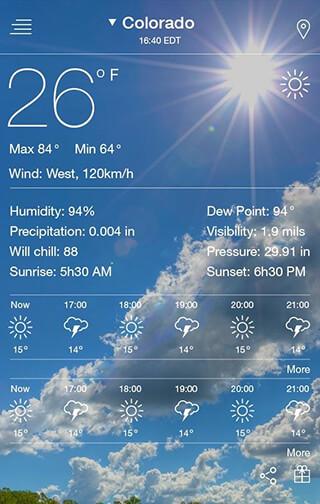 Weather Forecast скриншот 1