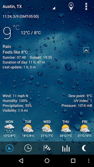 Sense V2 Flip Clock and Weather скриншот 2