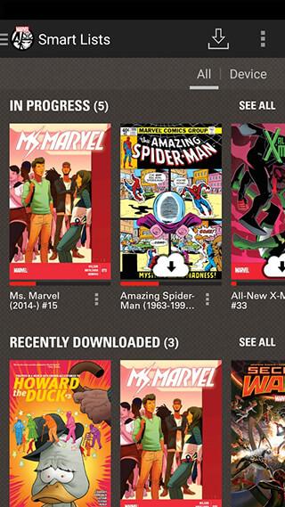 Marvel Comics скриншот 2