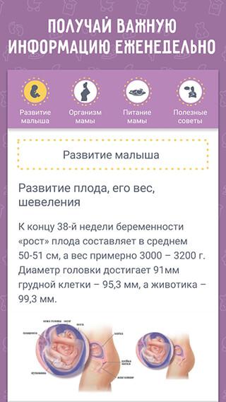 Pregnancy Calendar and Tracker скриншот 3