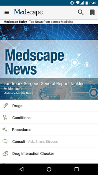 Medscape скриншот 1
