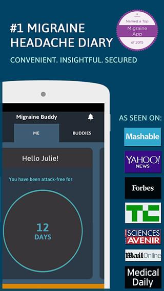Migraine Buddy: THE Migraine and Headache Tracker скриншот 1