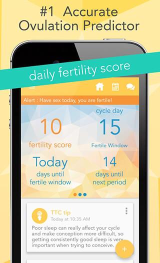 Ovia Fertility Tracker and Ovulation Calculator скриншот 1