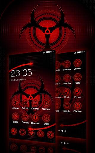 Sharingan Theme: Cool Launcher Rasengan Wallpaper скриншот 1