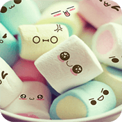 Cute Cartoon Marshmallow Comic Theme: Candy Skins иконка