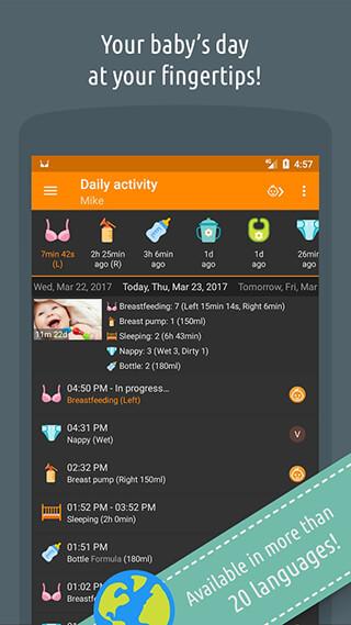 Baby Daybook: Breastfeeding and Care Tracker скриншот 1
