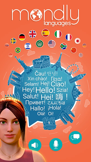 Learn languages Free: Mondly скриншот 1