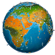 World Map Atlas 2017 иконка