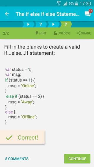 Learn JavaScript скриншот 3