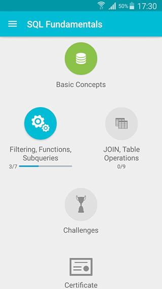 Learn SQL скриншот 1