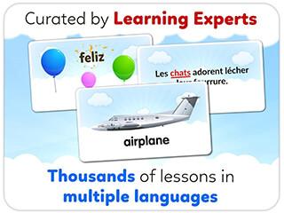 Monkey Junior: Learn to Read English, Spanishandmore скриншот 2