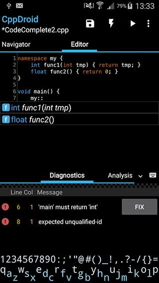 CppDroid: C/C++ IDE скриншот 2