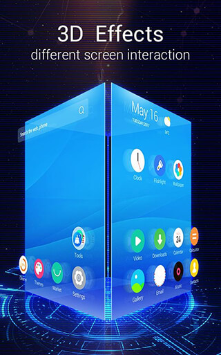 C Launcher 3D: Android Theme, Live Wallpaper скриншот 1