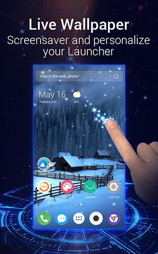 C Launcher 3D: Android Theme, Live Wallpaper скриншот 2