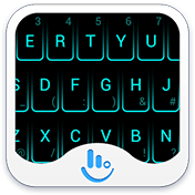 Neon Blue Keyboard Theme иконка