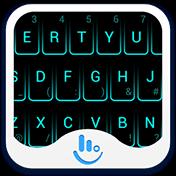 Neon Blue Keyboard Theme иконка