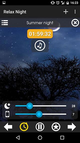 Relax NightNature Sounds скриншот 2