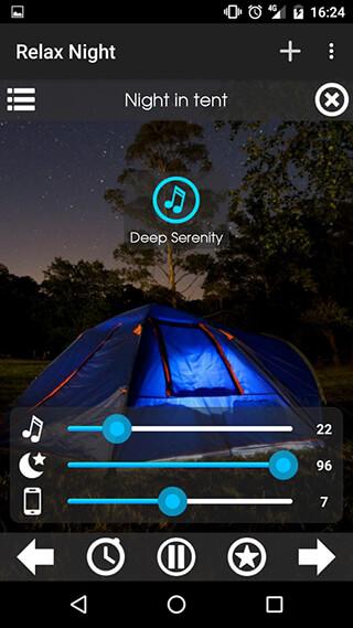 Relax NightNature Sounds скриншот 3